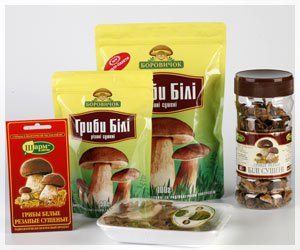 Белые грибы сухие, сушеные грибы, производство консервированых грибов