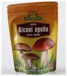 Смесь Лесных грибов, подберезовики (обабки), подосиновики, маслята, польские грибы, сушеные грибы,