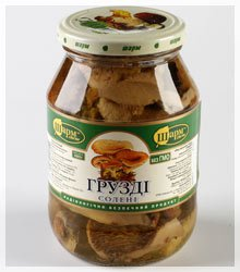 Laktarius resimus sterilized, sterilized mushrooms, buy mushrooms in Kiev, Ukraine